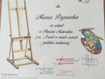 Dyplom za udział w plenerze malarskim