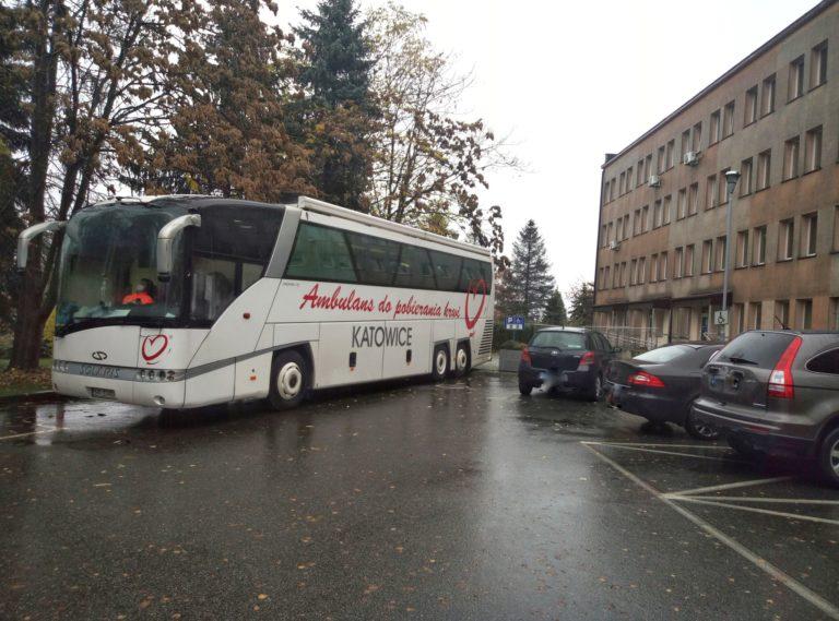 Krwiobus w SP ZOZ w Brzesku