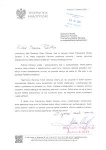 tekst życzeń Wojewody Małopolskiego dla pracowników ochrony zdrowia